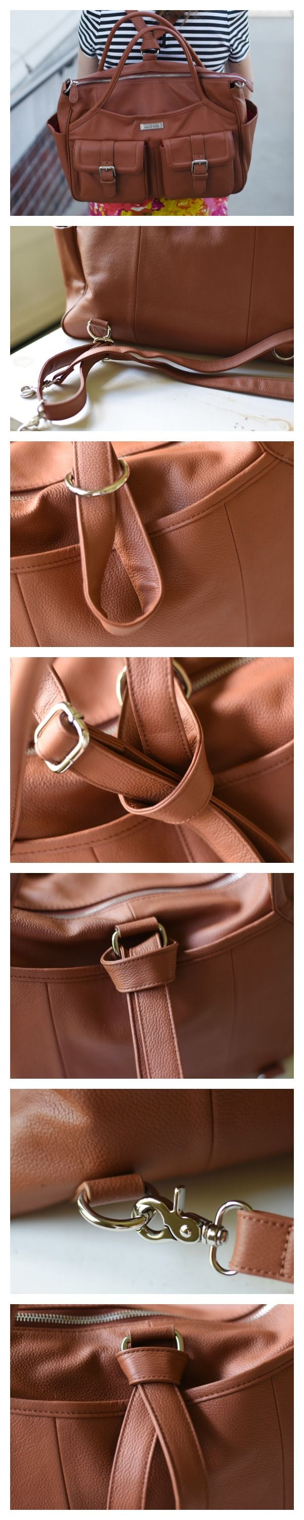 A Backback Diaper Bag - brilliant!!  How to Convert a Lily Jade Diaper Bag to the Backpack Carry | Feathers in Our Nest