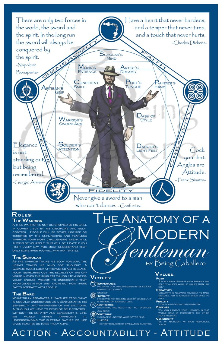 Anatomy of a Modern Gentleman.