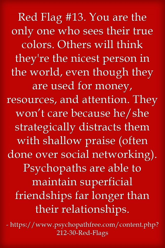 dating a narcissist red flags 30 red flags of manipulative people 1 the red flags in this book are intended to supplement those 14 ways to know if you're dating a psychopath.