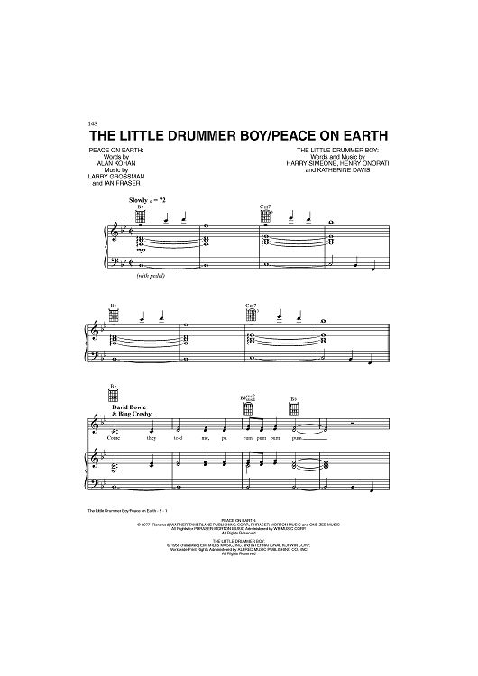 The Little Drummer Boy/Peace On Earth Sheet Music: www.onlinesheetmusic.com