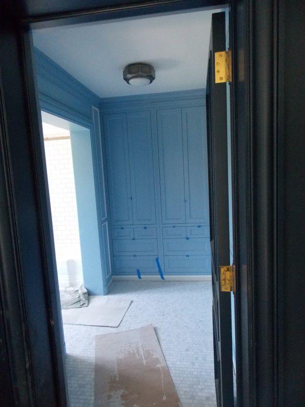 Best Son Bathroom Lulworth Blue Built Ins Project Greenbay 640 x 480