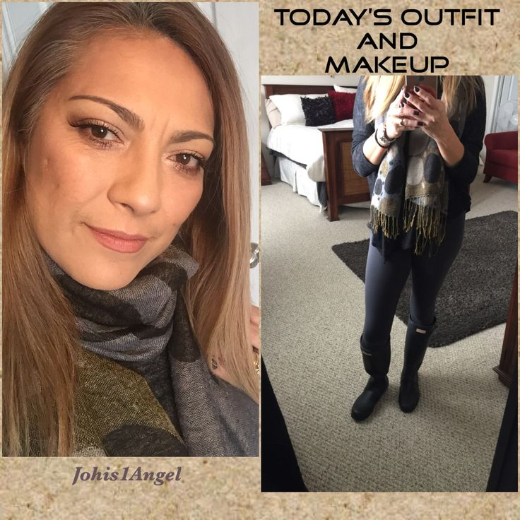 Today's Outfit and makeup features Hunter boots and Hourglass strobe palette. I am obsessed with hourglass products.