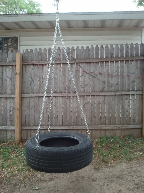 homemade tire swing 70 00 via etsy landscape ideas