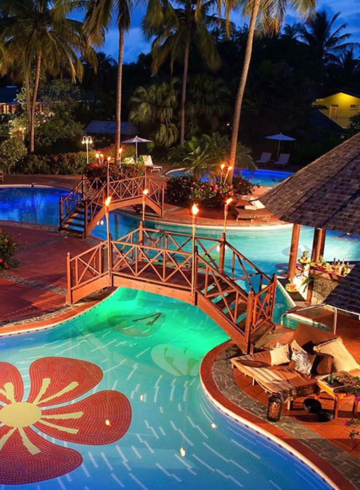 4f37a46bac225d This is one of the refreshing pools at Sandals Halcyon Beach Resort in Saint  Lucia