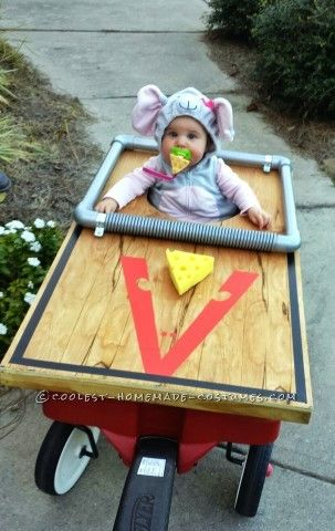 This is Adalyn (9 months and 2 weeks old), she was a mouse that was caught in a mouse trap (made out of Birch wood with trim and painted details, spon...