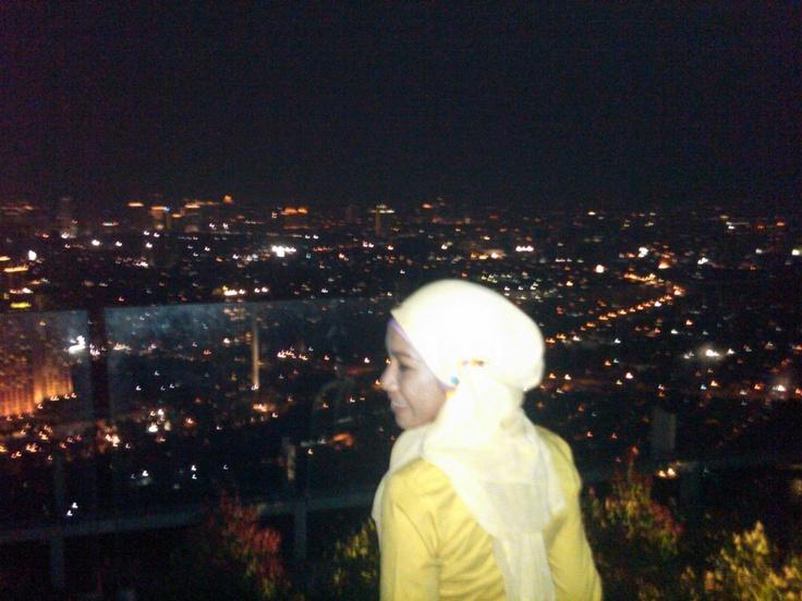 Jakarta Viewed At Night Skye 56th Floor Bca Tower Grand