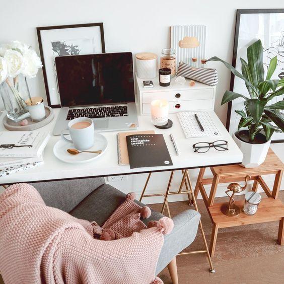 Lebensverändernde Bürolayout-Ideen für das kleine Home Office #homeofficeideas #homed