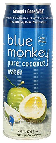 Blue Monkey - 100% Pure Coconut Water - 17.6 oz (pack of 2) * Read more details by clicking on the image.