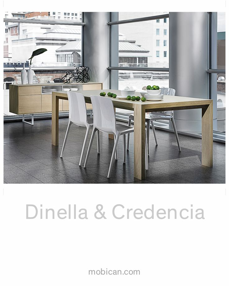 Mobican's Dinella and Credencia collections are sleek, refined and contemporary. They are shown here in Matte White Oak. All drawers are equipped with concealed high quality ball bearing slides. Credencia is available with inserts that are available in a number of colours #mobican #dinella #credencia #contemporary #madeincanada #hpmkt