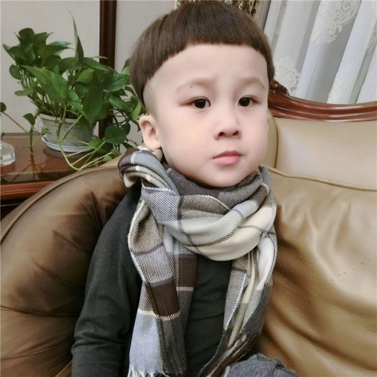 Детские осенние и зимние шарфы для мужчин и женщин Tong Gezi шарфы нагрудник девочка большой мальчик корейской версии кашемир шерсти -tmall.com отцовство Lynx