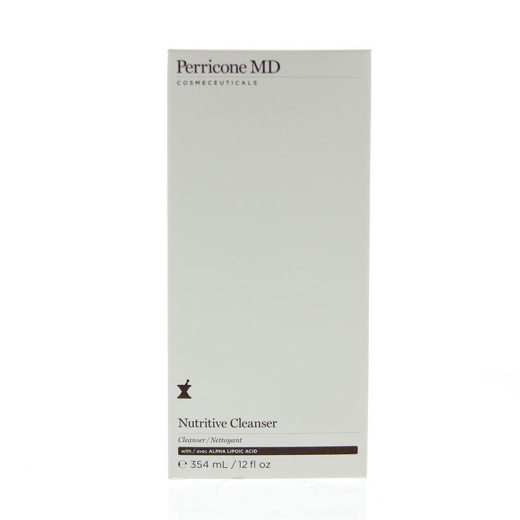 Perricone MD Cleanse Nutritive Cleanser Melk Anti-Aging 354ml  Description: Perricone MD Nutritive Cleanser. Wegwassen van onzuiverheden is dagelijks van essentieel belang voor de huid. Echter veel reinigers zijn streng en strippen de huid van haar natuurlijke oliën. Dat kan resulteren in tekenen van veroudering. Nutritive Cleanser geeft een schone en frisse huid zonder de huid uit te drogen. Er ontstaat een helderder en gladder huidoppervlak. Zo profiteert men van de anti-aging resultaten…