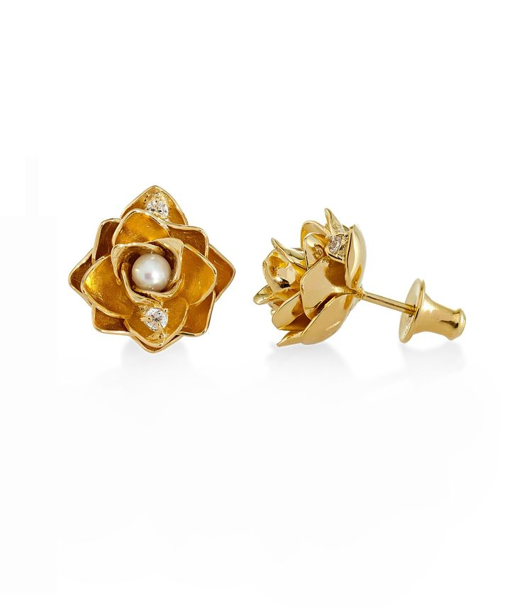 Tulola Lotus Studs Gold Dip http://www.shoptulola.com/collections/lotus-studs.html #SophieParis