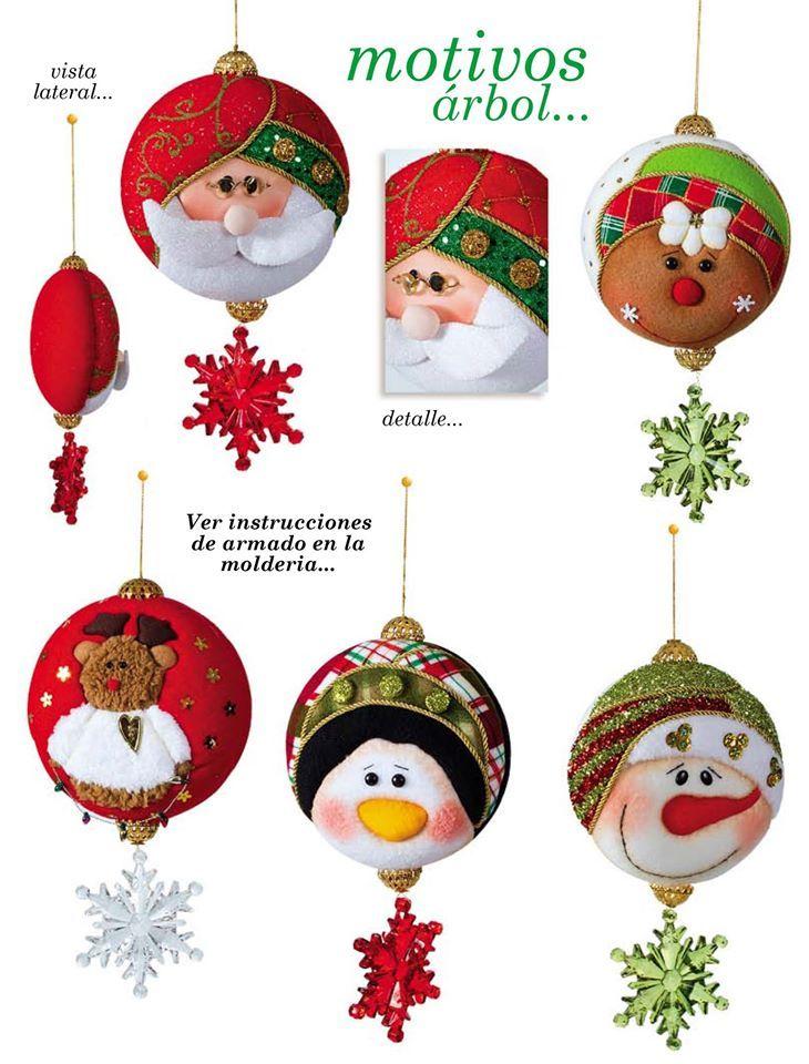 Moldes O Patrones Para Elaborar Hermosos Muñecos De Navidad - $ 8.000