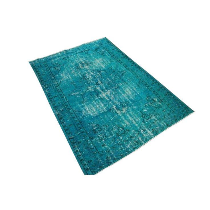 Rozenkelim Vintage Vloerkleed 245 x 168 cm - Aqua blauw