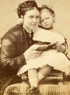 Queen Victoria's eldest child - Crown Princess Victoria with her daughter Princess Viktoria of Prussia