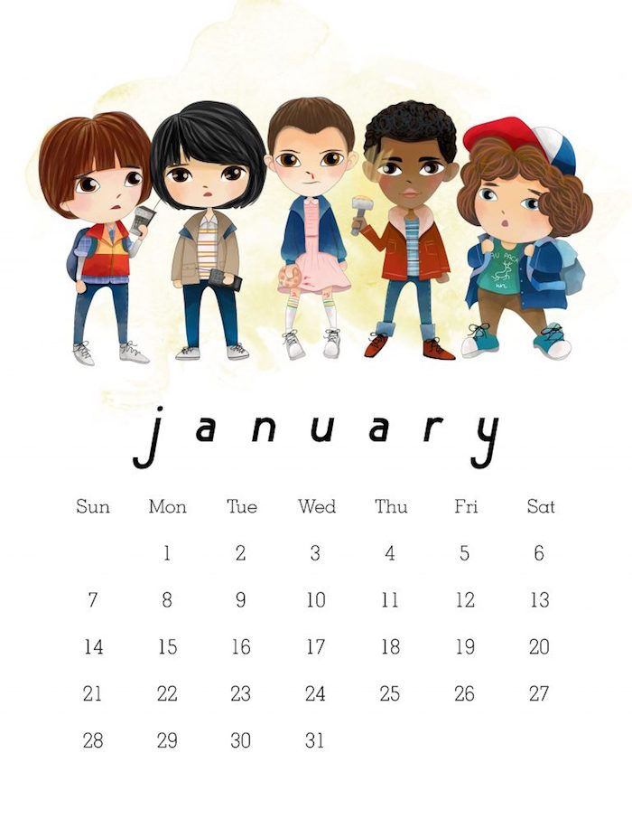 The coolest 2018 printable calendars (some free!)   Cool Mom Picks