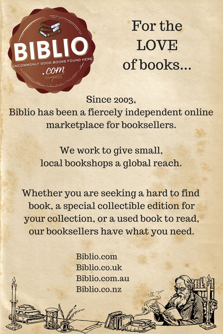 Biblio is an indie book marketplace with over a decade of experience in helping people and booksellers to connect over their love of books.