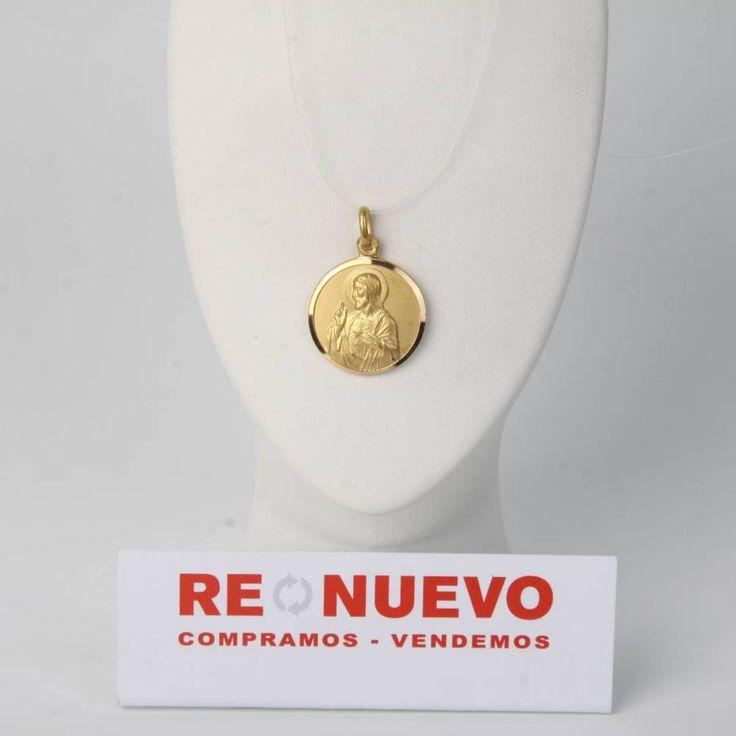 Medalla corazón de Jesús y virgen de oro de segunda mano E274218B | Tienda online de segunda mano en Barcelona Re-Nuevo
