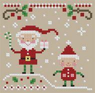 The Floss Box | Santa and the Elf Cross Stitch