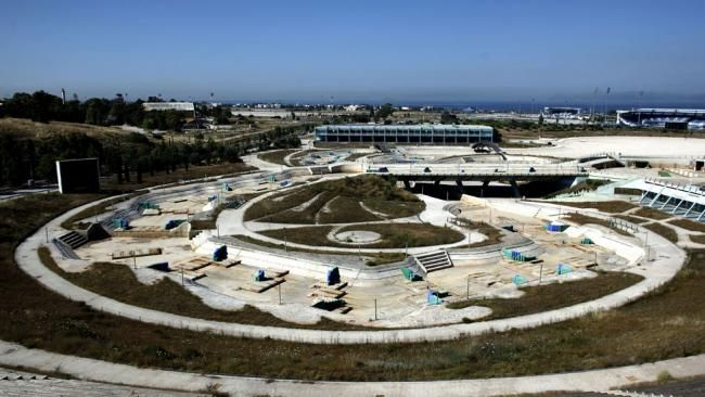 After the Games: Former Olympic Sites in Decay - weather.com. View of the disused Olympic canoe/kayak stadium in Athens on June 11, 2012. Greece has been criticized for spending excessive amounts of money on the 2004 Athens Olympic Games venues and failing to utilize most of them after the completion of the Games.