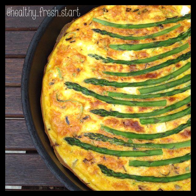 #frittata #beautifulfood #asparagus #eggs