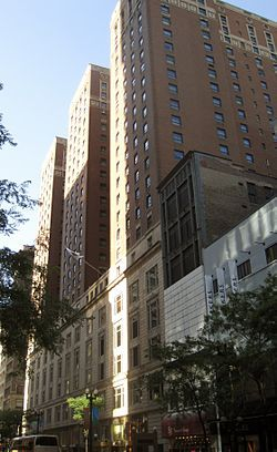 Three Palmer House hotels have been located at the corner of State and Monroe streets in Chicago.
