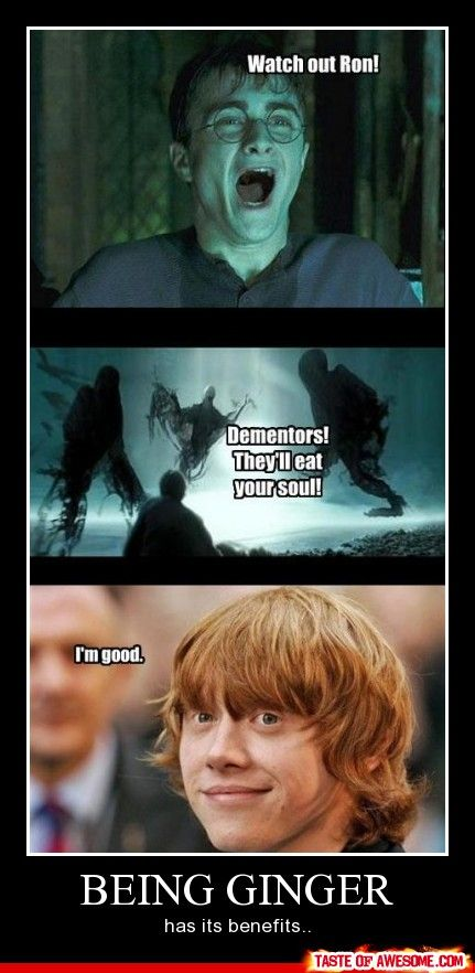 I think Jared would laugh his ass off at this.  He always says that Gingers are Soulless.