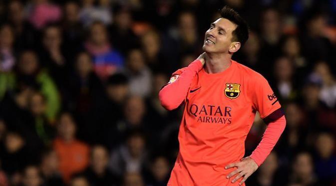 Messi dianggap tidak membuang-buang waktu di pertandingan melawan Valencia.