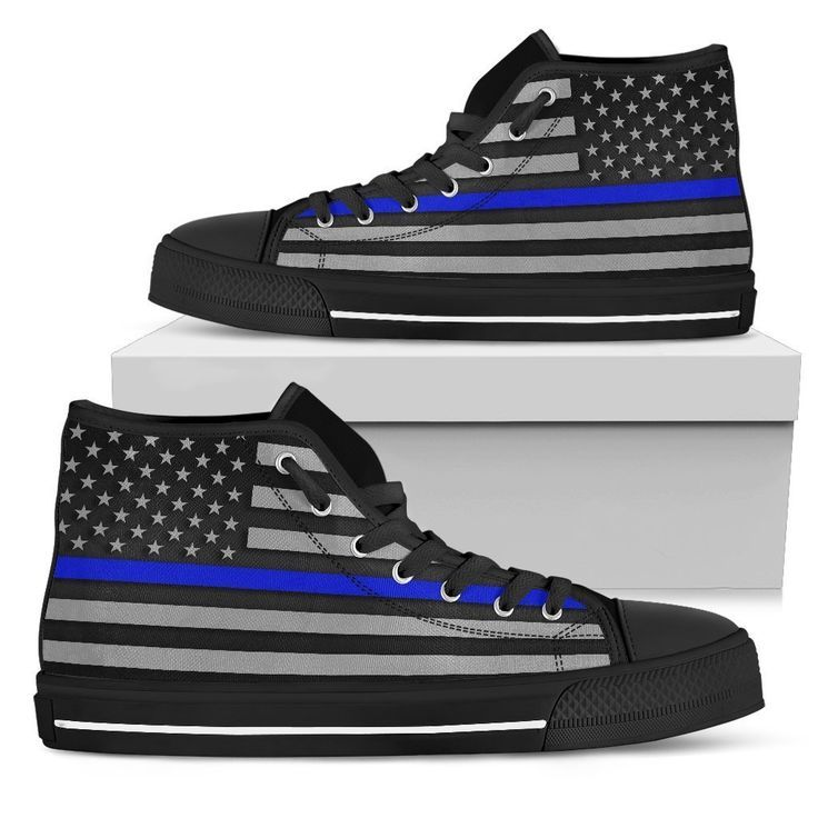 Thin Blue Line Men's High Top Shoes in