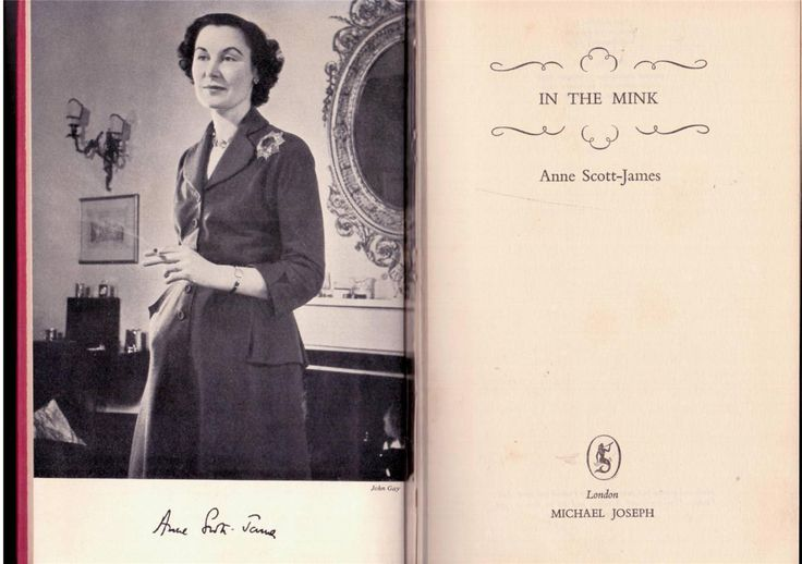 In the Mink by Anne Scott-James - 1953 Edition - Hardcover