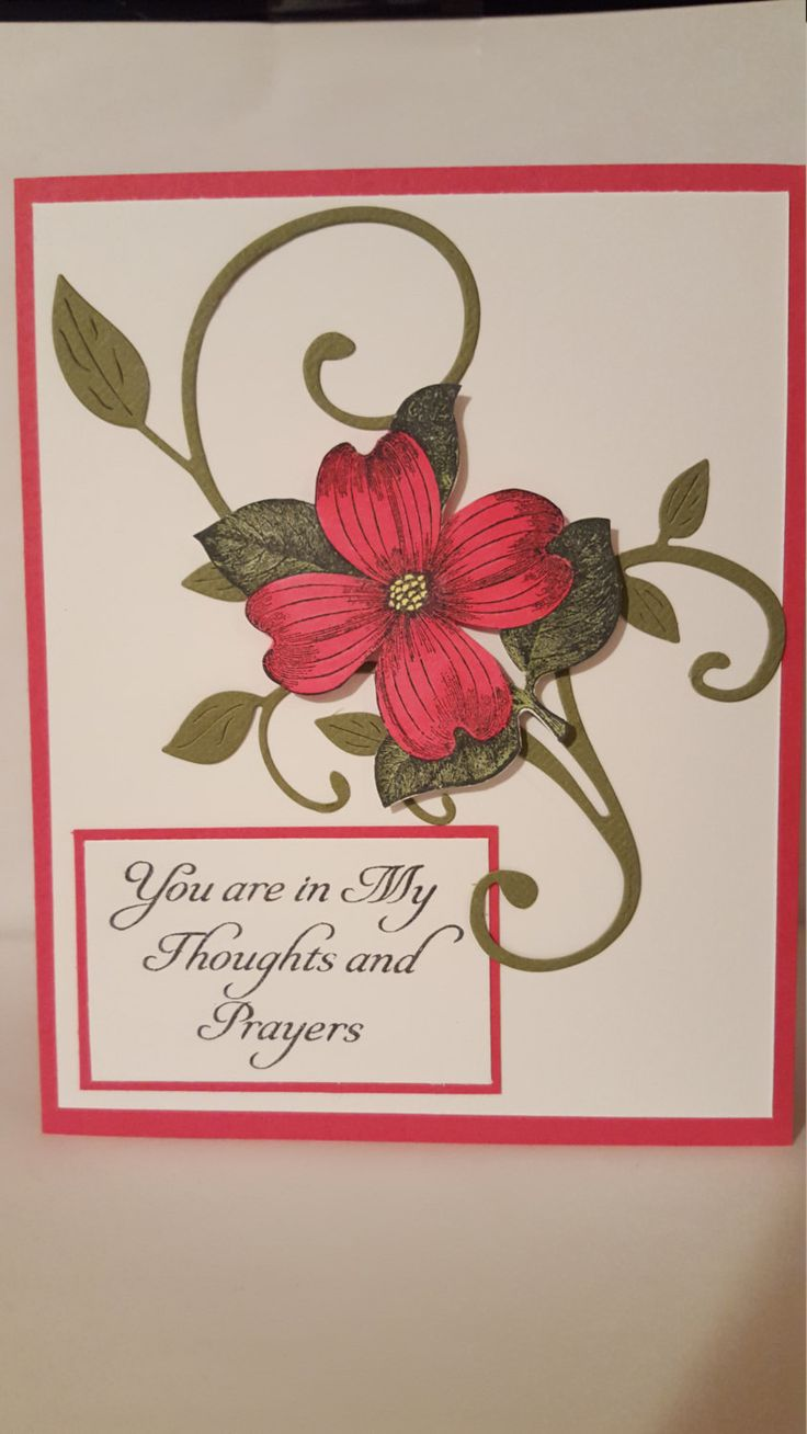 You are in my Prayers Sympathy Handmade Card by SimoneSaysCardShop on Etsy