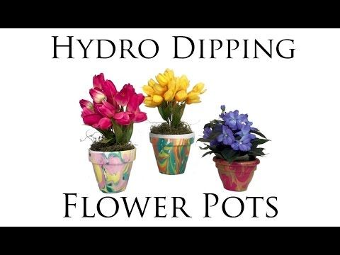 Hydro Dipping Flower Pots - YouTube Watch this, we should totally do this as our flower pot craft!