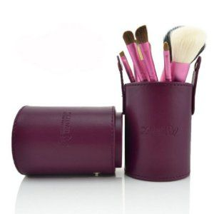 NAVA New Dark Purple 7Pcs Deluxe Leather Case Make Up Brushes Powder Eyeshadow Pro Cosmetic Brush Set by NAVA. $26.99. Long wooden handle, easy to hold. Professional make up brushes set. Soft Purple PU bag, well protect your brushes and easy to carry when you are travelling. 7pcs different brushes meet your every need for a gergous look. Superb soft brush material, gently to apply make up on your skin. BRAND NEW SUPERB7PCS Purple PRO MAKE UP BRUSHES SETLONG HANDLE with leather …