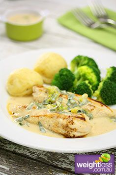 Creamy Chicken Tenders. #HealthyRecipes #DietRecipes #WeightLossRecipes weightloss.com.au