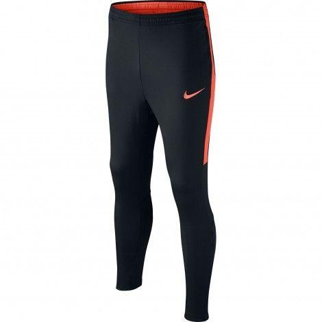 Nike Dry Academy trainingsbroek junior black turf orange #Nike #trainingsbroek #kinderen