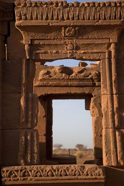 Naqa | Sudan | Africa Decorated window in the Kiosk