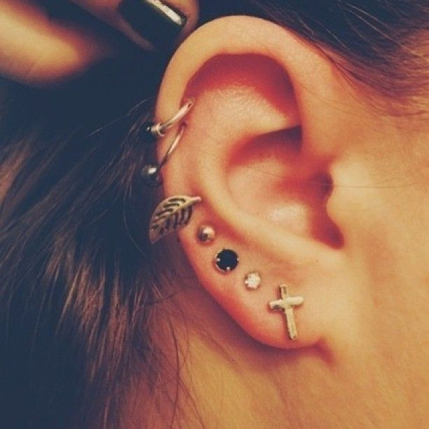 I love the cross studs and the leaf ones too! :)