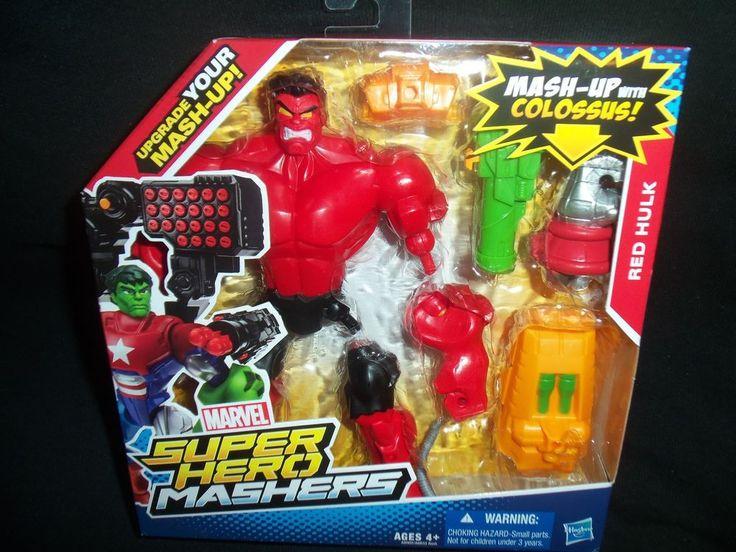 Marvel Super Hero Mashers Red Hulk Action Figure New HTF NIB !!! #Hasbro