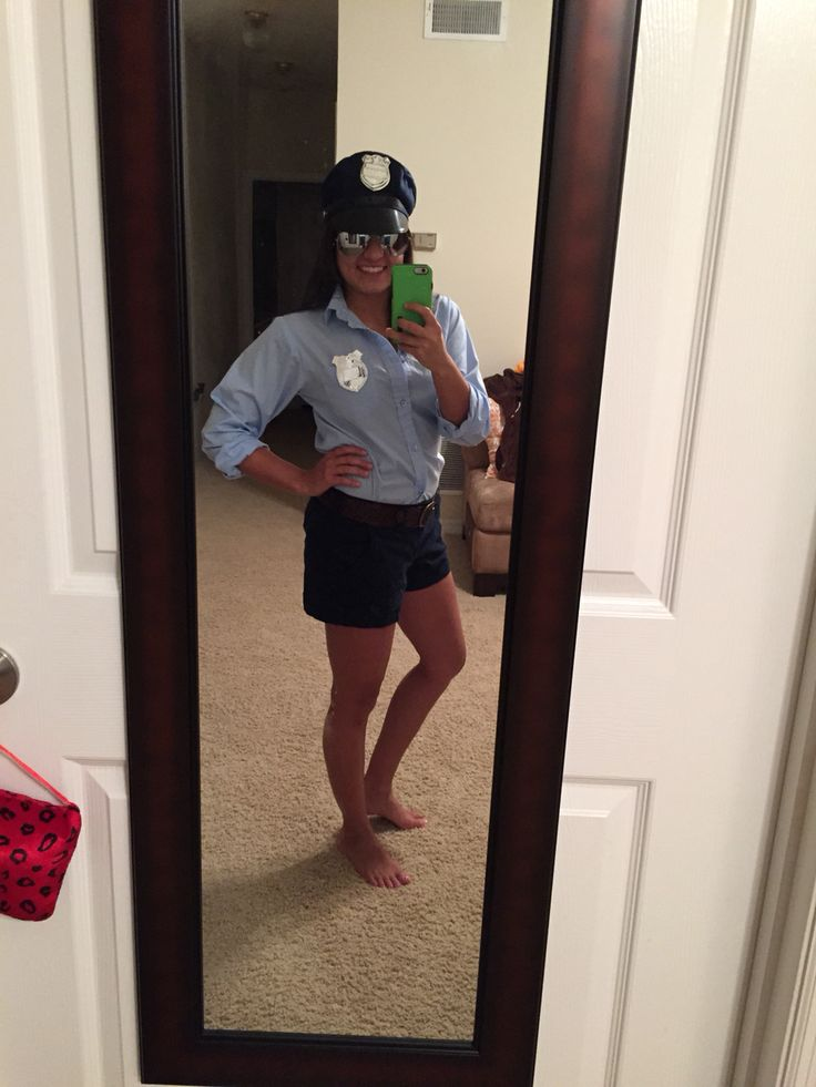 My homemade-ish cop costume. Little more classy than what the stores have to offer :)