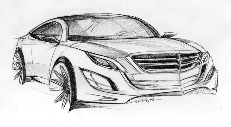 Benz concept Pencils drawing