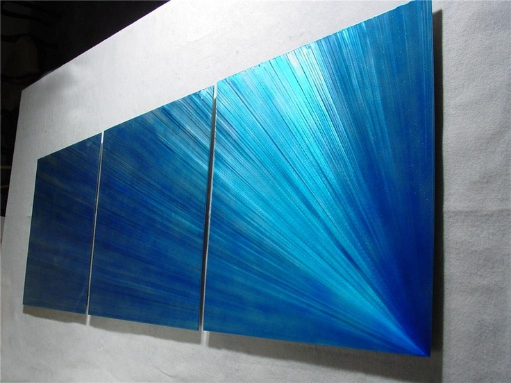 Comet / Abstract Painting a Metal Wall Art Sculpture by Nider the Internationally Acclaimed Artist of Contemporary Decor. $275.00, via Etsy.