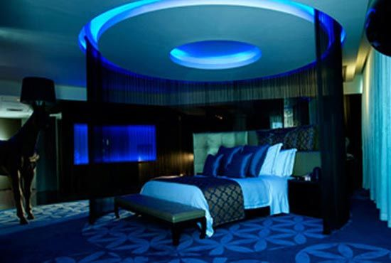 Neon blue bedroom the image kid has it - Entrancing images of blue and black bedroom decoration ideas ...