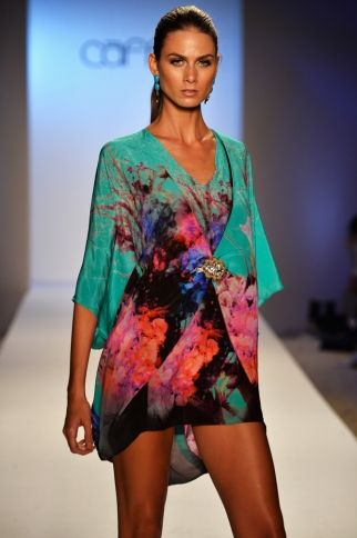 CAFFE SWIMWEAR Silk Bold Flower Dress. SHOP AT www.rosatocollections.com www.facebook.com/rosatocollectionsonline