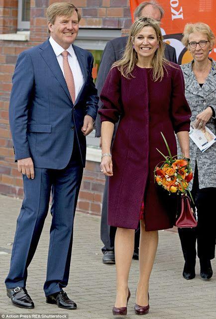 Koning Willem-Alexander en Koningin Máxima in Amsterdam. 22-4-2016