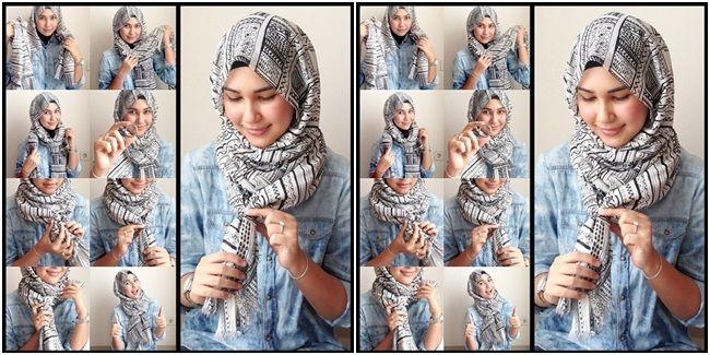 busana cantik faira tips memakai jilbab tanpa penitik dan jarum pentul