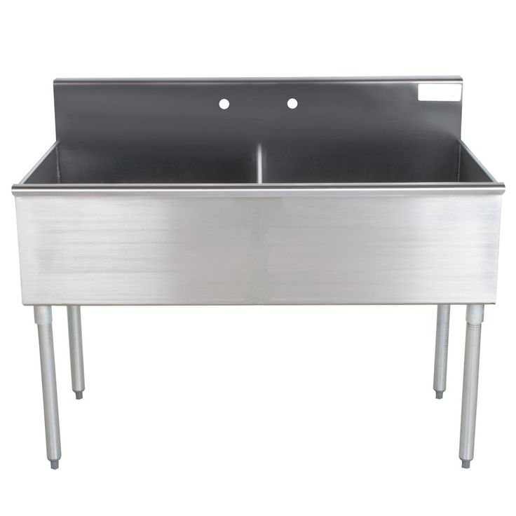 "Advance Tabco 4-42-48 Two Compartment Stainless Steel Commercial Sink - 48"" 499.00"