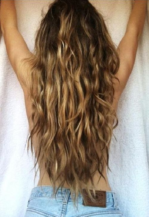 Long Mermaid Hair Long Beach Waves Le Mie Pettinature Nel