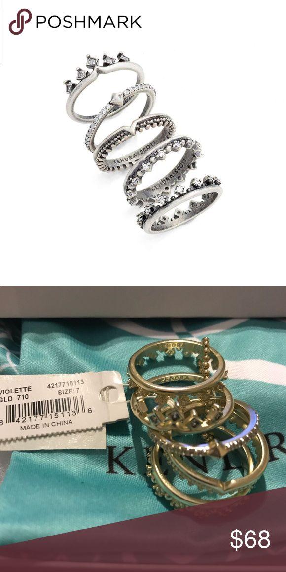 Kendra Scot rings NWT Set of 5 Violette Rings Kendra Scott Accessories