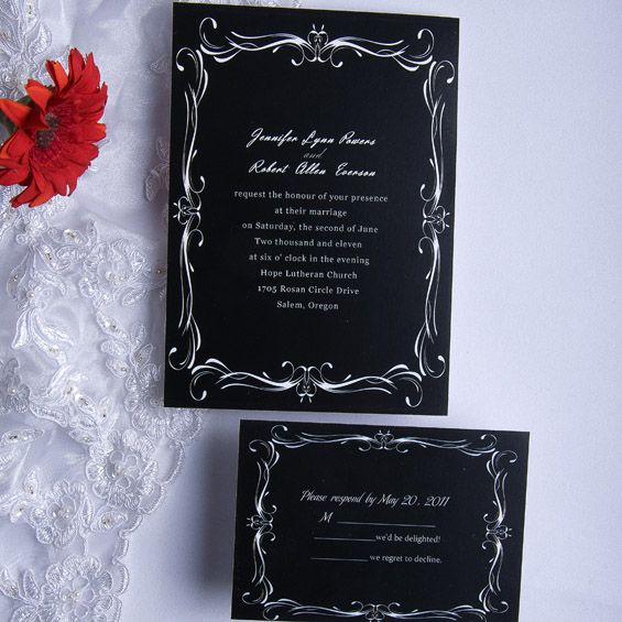black and white wedding invitations iwi024 wedding invitations