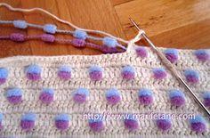 Dut İple Yeni Tiğ İşi Bebek Battaniyesi (New Mulberry rope crochet baby blanket). Good idea.